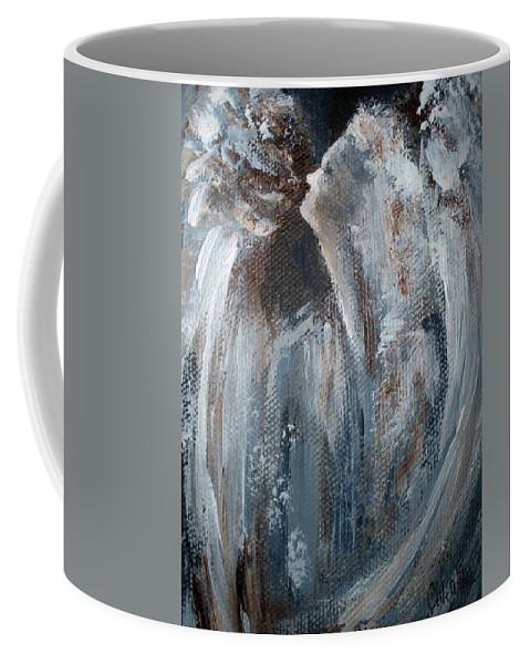 Angel Coffee Mug featuring the painting The Angels Sing by Cathy Weaver