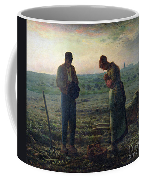 The Coffee Mug featuring the painting The Angelus by Jean-Francois Millet