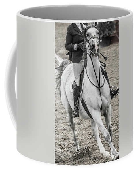 Horse Coffee Mug featuring the photograph The Approach Show Jumping by Betsy Knapp