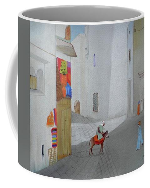 The Arabian Market Coffee Mug featuring the pastel The Arabian Market by Gordon Ogilvie
