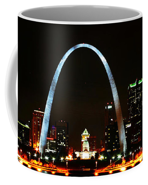 St Louis Coffee Mug featuring the photograph The Arch by Anthony Jones