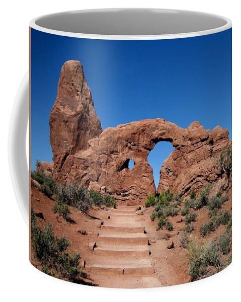Arch Coffee Mug featuring the photograph The Arch by Sandy Keeton