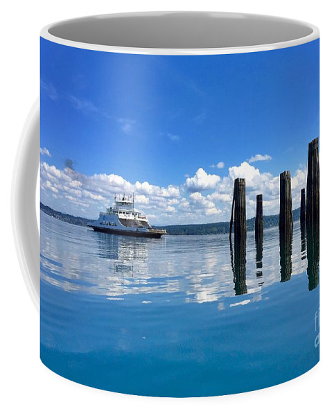 Photography Coffee Mug featuring the photograph The Arrival by Sean Griffin