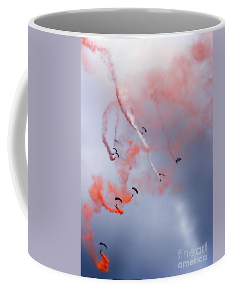 Raf Falcons Coffee Mug featuring the photograph The Art Of Falling by Angel Ciesniarska