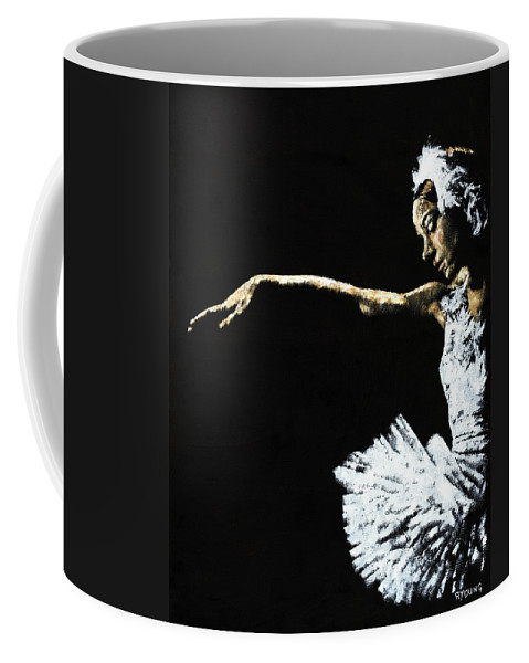 Ballet Coffee Mug featuring the painting The Art of Grace by Richard Young