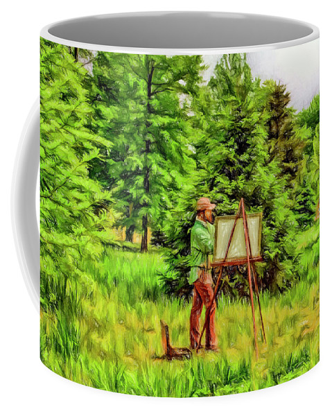Current Coffee Mug featuring the photograph The Artist by Geraldine Scull