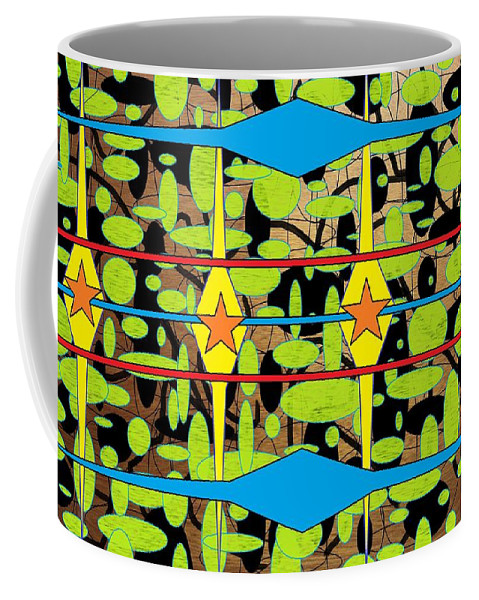 Arts Coffee Mug featuring the digital art The Arts Of Textile Designs #3 by Mbonu Emerem