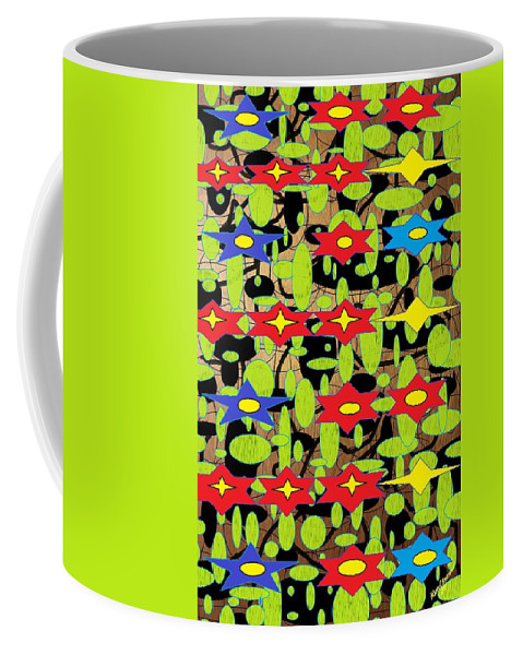 Arts Coffee Mug featuring the digital art The Arts Of Textile Designs #42 by Mbonu Emerem