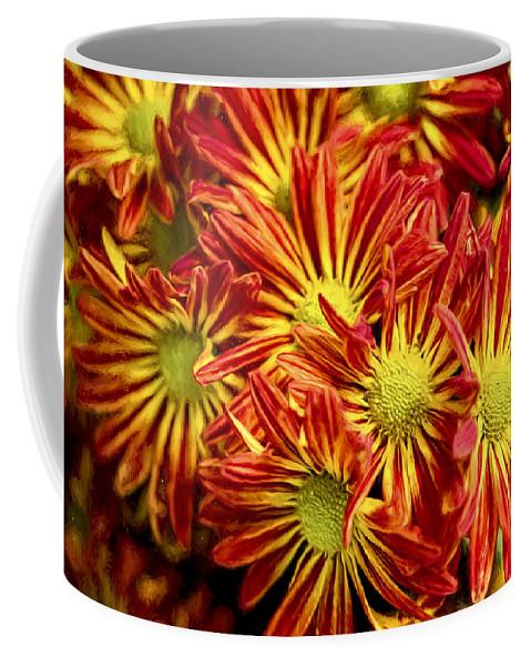 Chrysanthemum Coffee Mug featuring the photograph Chrysanthemum Bouquet by Kay Brewer