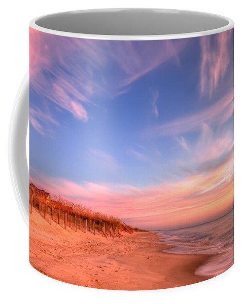 Beach Coffee Mug featuring the photograph The Atlantic Coast At Sunrise by Rich Leighton