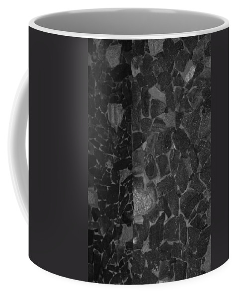 Black And White Coffee Mug featuring the photograph The B And W Wall by Rob Hans