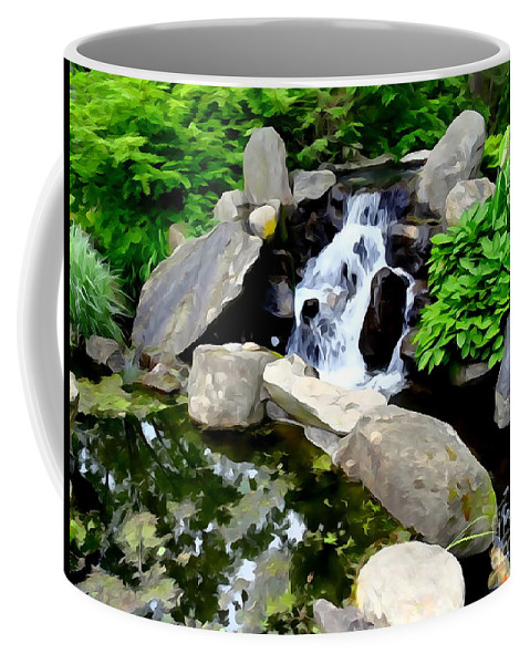 Abstract Coffee Mug featuring the photograph The Babbling Brook by Ed Weidman