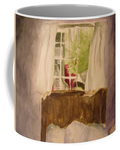 Bedroom Coffee Mug featuring the painting The Bachelor by Andrew Gillette