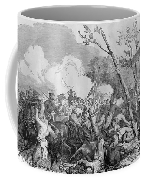 Bull Run Coffee Mug featuring the painting The Battle Of Bull Run by War Is Hell Store