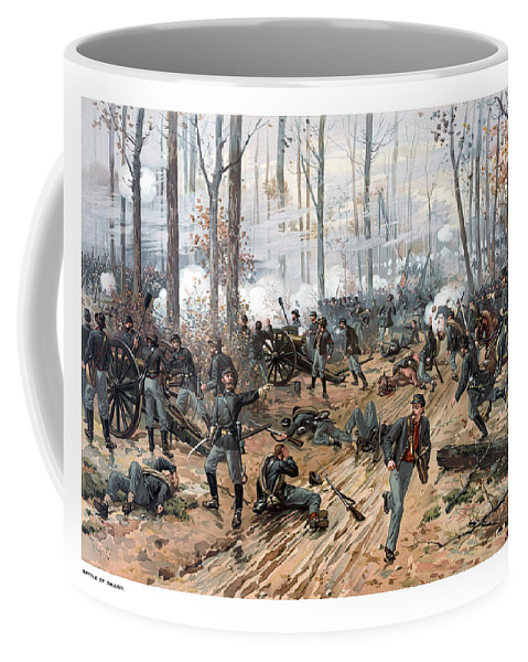 Civil War Coffee Mug featuring the painting The Battle Of Shiloh by War Is Hell Store