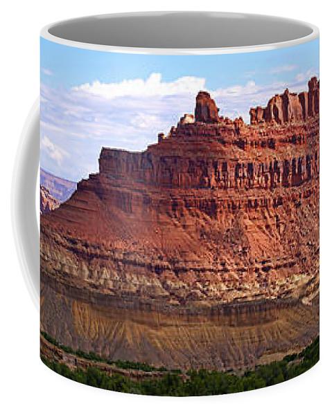 Landscape Utah Coffee Mug featuring the photograph The Battleship Utah by Heather Coen