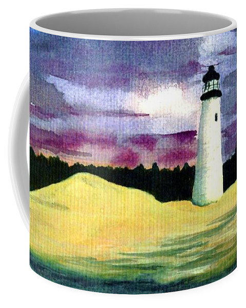 Fine Art Coffee Mug featuring the painting The Beacon by Patricia Griffin Brett