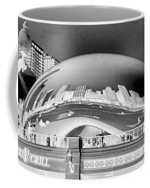 Bean Coffee Mug featuring the photograph The Bean - 1 by Ely Arsha