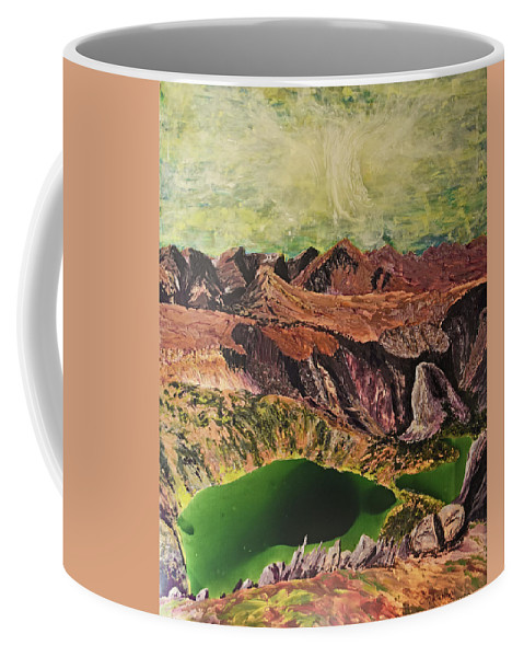 Landscape Coffee Mug featuring the painting The Bear's Tooth Highway Summit by Carolyn Martin Kennedy