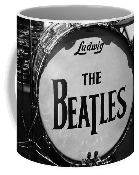 The Beatles Drum Coffee Mug featuring the photograph The Beatles Drum by Dan Sproul
