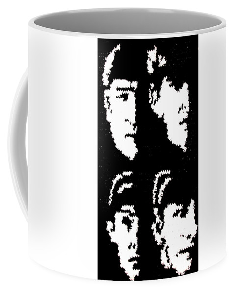 the beatles silhouette fiber artwork coffee mug for sale by cathy marina