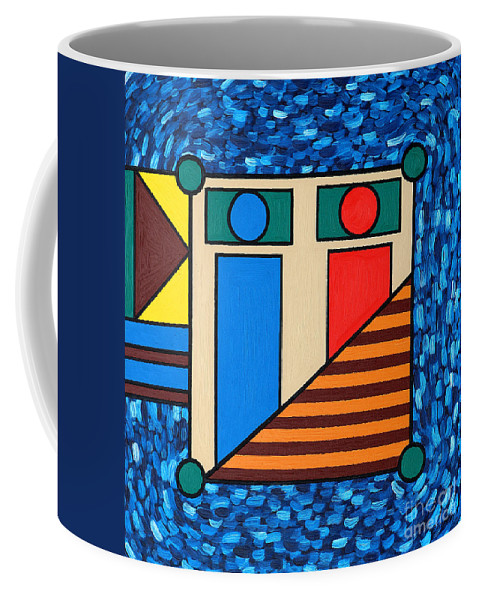 Bed Coffee Mug featuring the painting The Bedroom by Patrick J Murphy