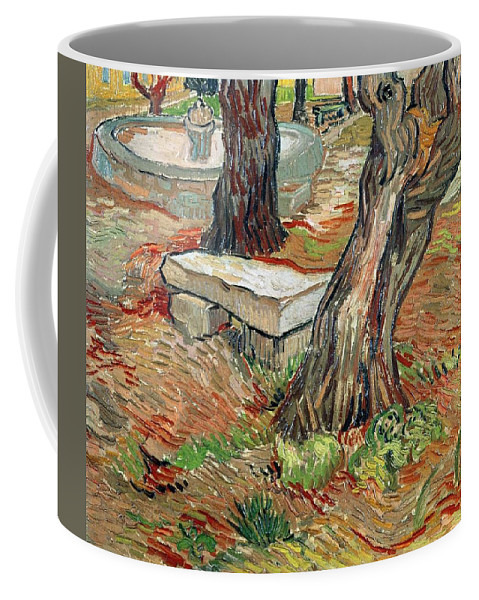 Art Coffee Mug featuring the painting The Bench At Saint Remy by Artistic Panda
