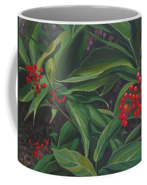 Berries Coffee Mug featuring the painting The Berries On Guanella Pass by Hunter Jay