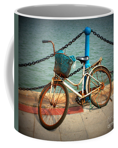 Stories Coffee Mug featuring the photograph The Bicycle by Carol Groenen
