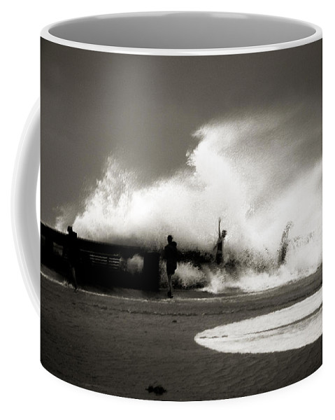 Surge Coffee Mug featuring the photograph The Big Surge by Susanne Van Hulst