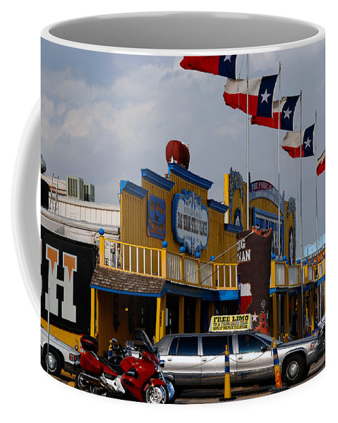 The Big Texan Coffee Mug featuring the photograph The Big Texan In Amarillo by Susanne Van Hulst