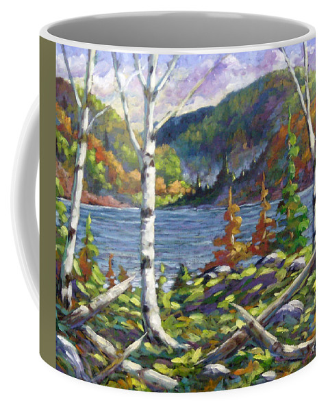 Art Coffee Mug featuring the painting The Birches by Richard T Pranke