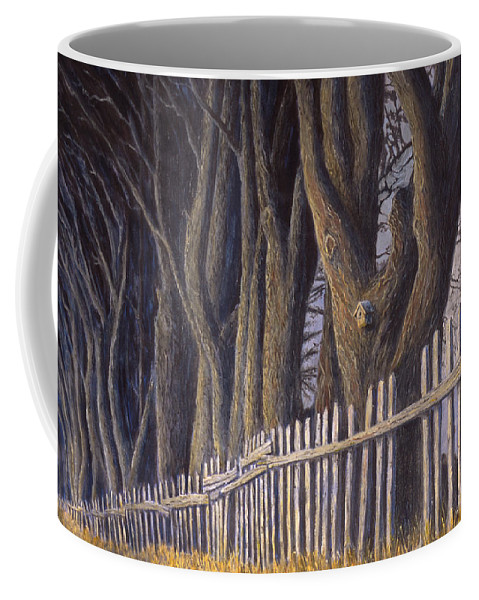 Bird House Coffee Mug featuring the painting The Bird House by Jerry McElroy