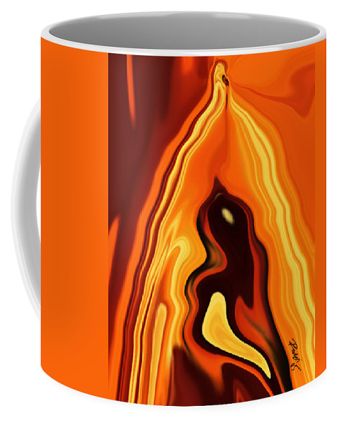 Art Coffee Mug featuring the digital art The Bird In The Case by Rabi Khan