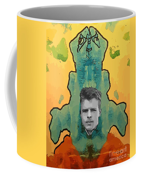 The Birth Of Rorschach The Inventor Of The Inkblot Test Coffee Mug featuring the painting The Birth Of Rorschach The Inventor Of The Inkblot Test by John Malone
