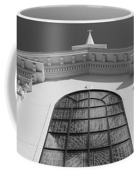 Church Coffee Mug featuring the photograph The Black And White Church by Rob Hans