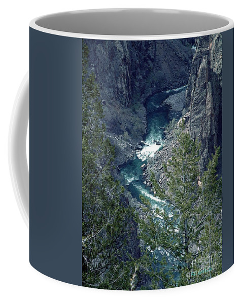 Canyon Coffee Mug featuring the painting The Black Canyon Of The Gunnison by RC DeWinter
