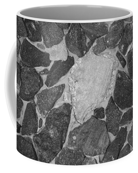 Black And White Coffee Mug featuring the photograph The Black Wall by Rob Hans