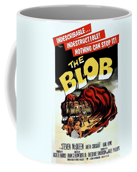 The Blob Coffee Mug featuring the photograph The Blob by Movie Poster Prints