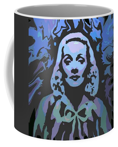 Digital Painting Coffee Mug featuring the digital art The Blue Angel by Ansgard Thomson