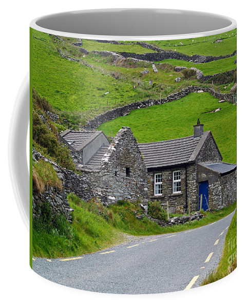 Fine Art Photography Coffee Mug featuring the photograph The Blue Door by Patricia Griffin Brett
