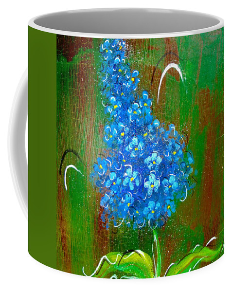 Flowers Coffee Mug featuring the painting The Blue Flower by Natalie Holland