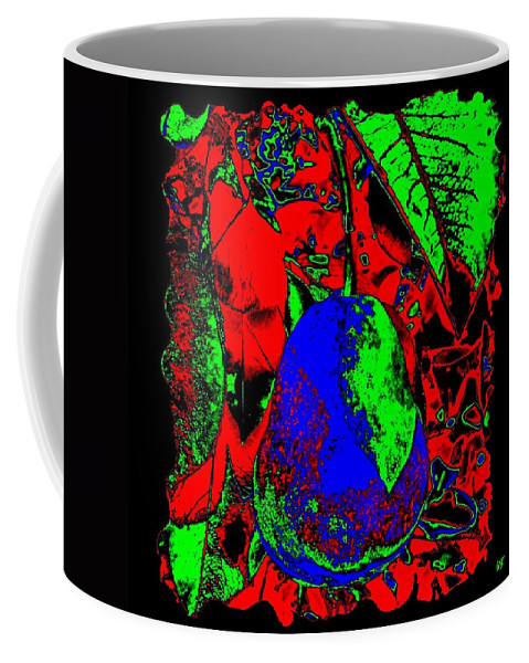 Abstract Coffee Mug featuring the digital art The Blue Pear by Will Borden