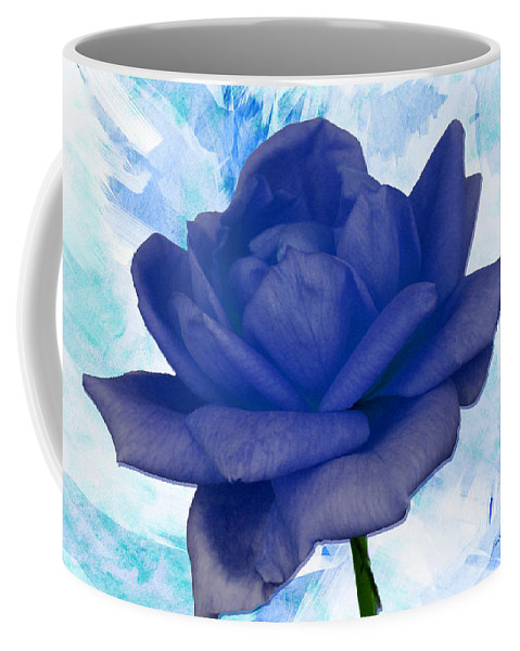 Rose Coffee Mug featuring the photograph The Blue Rose by Ericamaxine Price