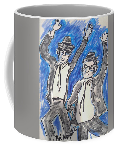 Blues Brothers Coffee Mug featuring the painting The Blues Brothers by Geraldine Myszenski