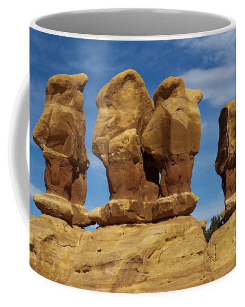 Southwest Coffee Mug featuring the photograph The Board Meeting by Sandra Bronstein