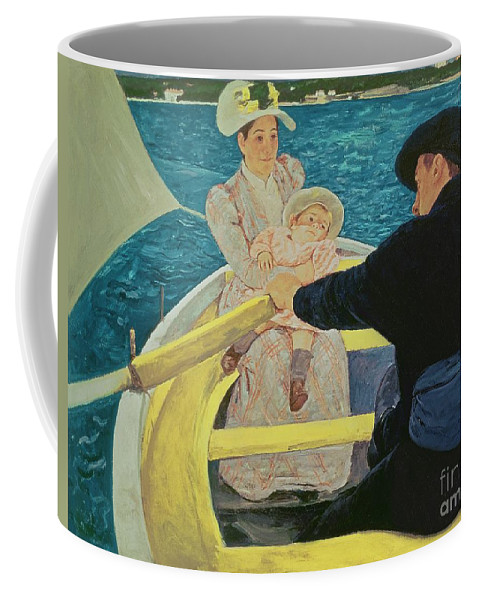 The Coffee Mug featuring the painting The Boating Party by Mary Stevenson Cassatt