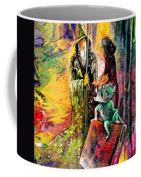 Fantasy Coffee Mug featuring the painting The Book Of Magic by Miki De Goodaboom