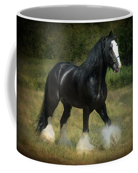 Horses Coffee Mug featuring the photograph The Boss C by Fran J Scott