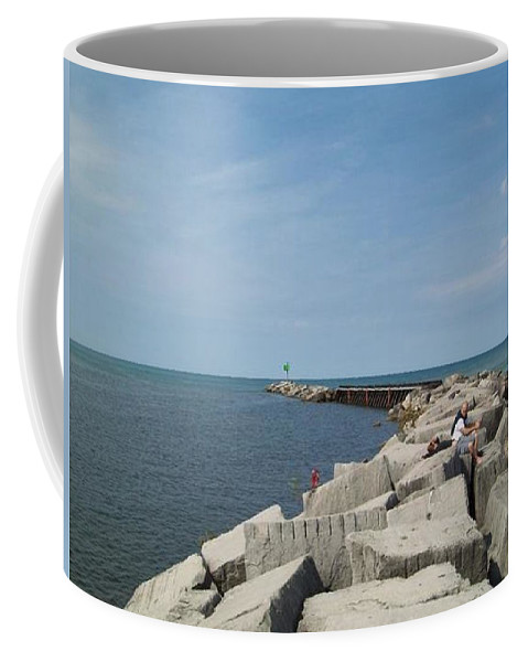 Tmad Coffee Mug featuring the photograph The Break by Michael TMAD Finney